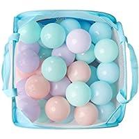 Smarty 50個/ロットカラフルな子供海洋ボール7 cmソフトプラスチック安全Kids Swim Pit Toy withポータブルメッシュバッグ