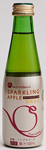 青森県りんごジュース シャイニー スパークリングアップル200ml瓶×24本入