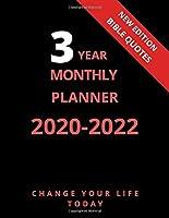 3 Year Monthly Planner 2020 - 2022: 3 Year Monthly Planner 2020-2022 I Bible Quotes I Calendar I Organizer I Letter Sized: 8.5 x 11 inch