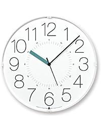 Lemnos CARA 電波時計 ホワイト(ブルー針)