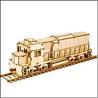 Young Modeler Junior Serises, 木製モデルキット_ディーゼル機関車(YM769) [並行輸入品]