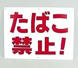 「たばこ禁止!」 注意 パネル看板 幅40cm×高さ30cm大きな文字でわかりやすい