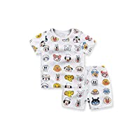子供のパジャマセット夏の竹繊維の赤ん坊の下着の赤ちゃんのエアコンの服春と秋の薄いセクション秋の服の男性の家,パンスーパーマン,110cm