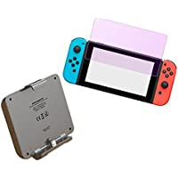 NintendoSwitch パワーバンク ガラスフィルムセット 7000mAh 増量バッテリー バッテリーケース スタンド 【ブルーライトカットガラスフィルム付き】