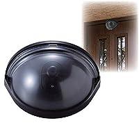 ドア用防犯ダミーカメラ 乾電池式/赤色LED付き 防水性 〔防犯対策用品〕 ds-1645162