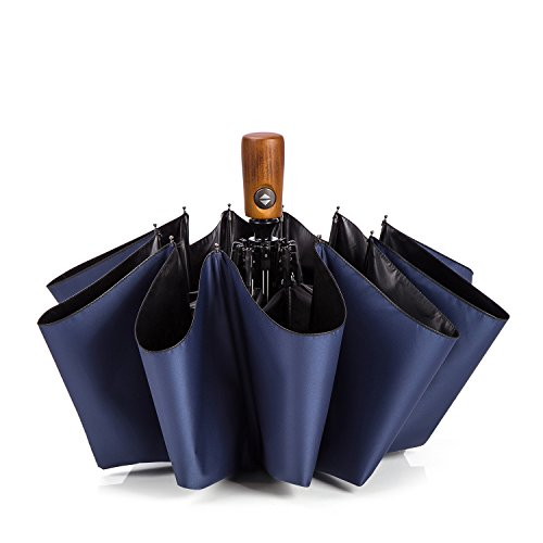 AYING 折り畳み傘 メンズ 雨傘 日傘 紳士用 自動開閉 10本骨 超撥水 耐強風 UVカット 99.99% 晴雨兼用