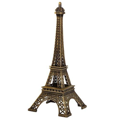 【ノーブランド品】 レトロ 合金 ブロンズトーン パリ エッフェル塔 置物 像 装飾 ギフト 3サイズ選べる - 25センチメートル