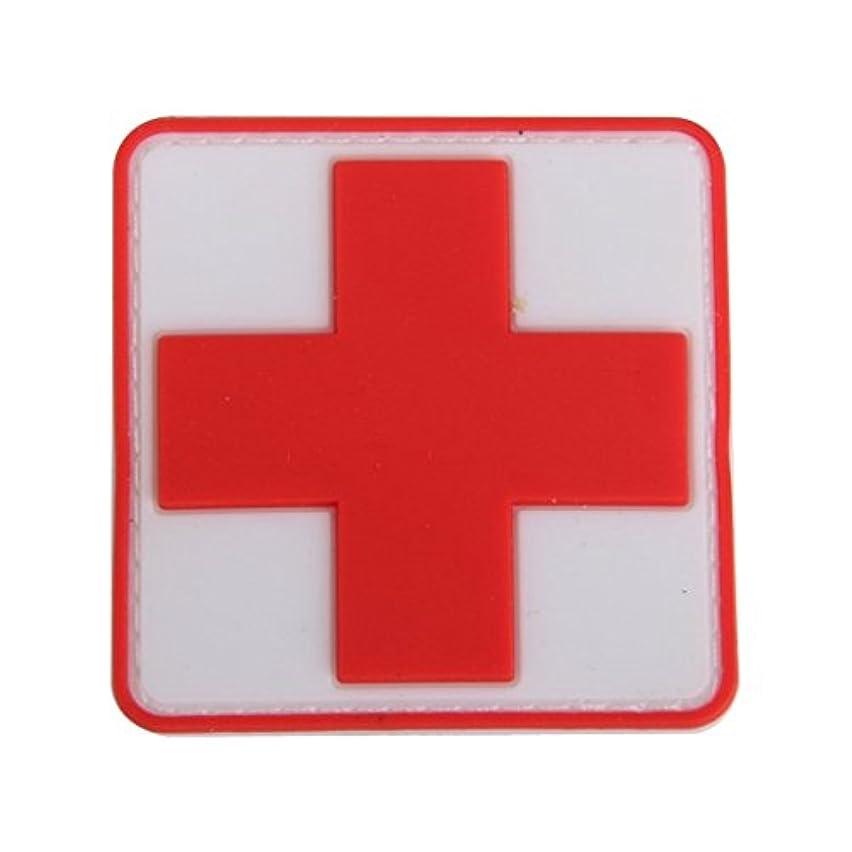 謝罪する軽量鳴り響くSODIAL アウトドア 応急処置PVCレッドクロスフック フックバッジパッチ