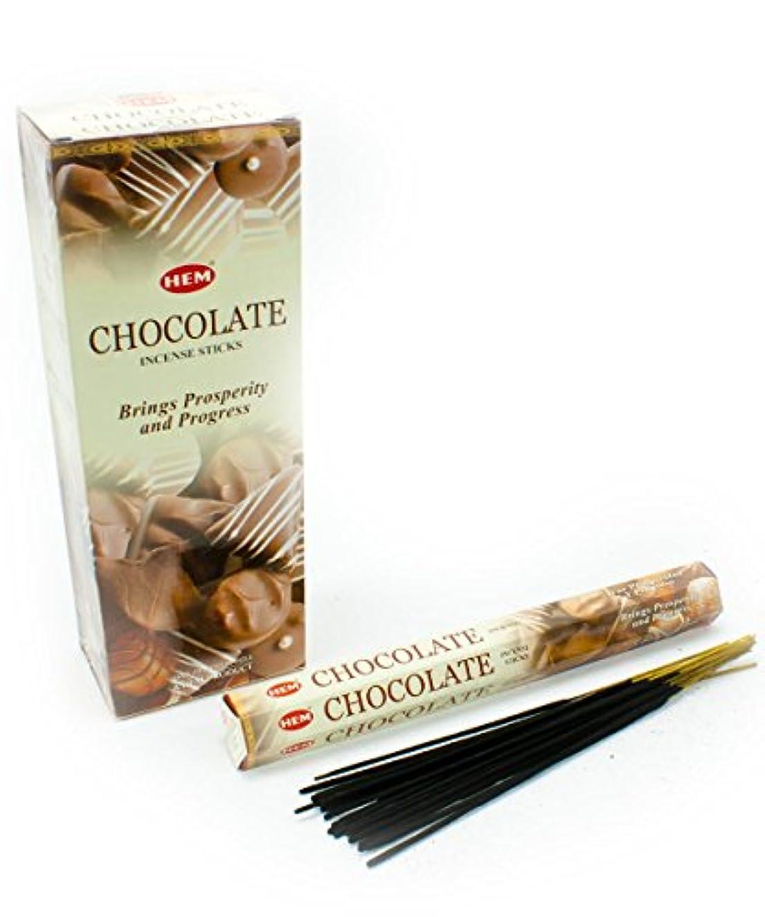 姿を消す郵便アーネストシャクルトンHEM(ヘム)社 チョコレート香 スティック CHOCOLATE 6箱セット