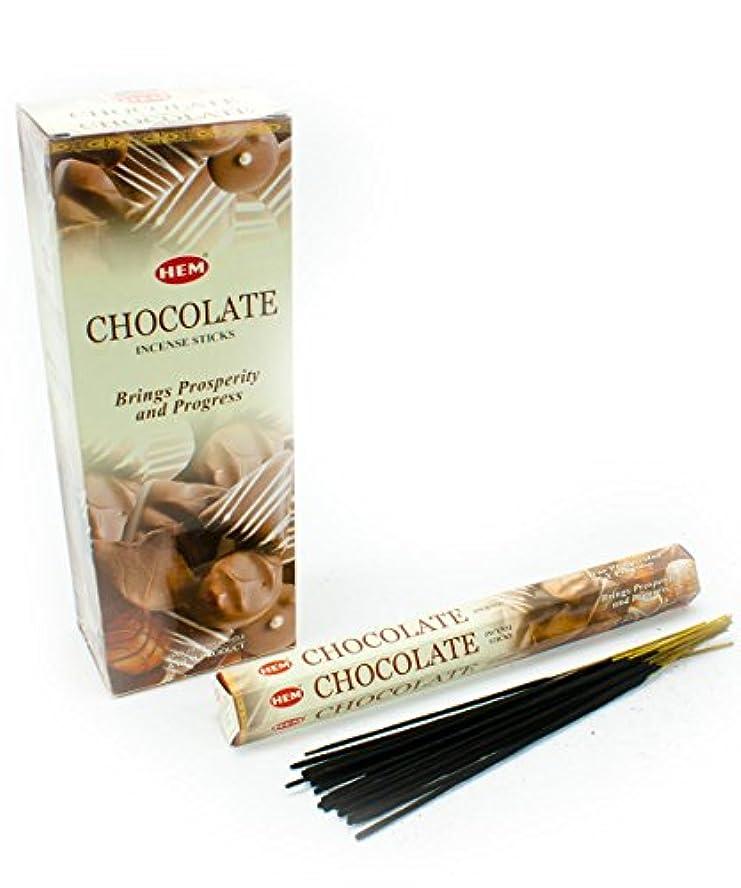 計算可能揃える郊外HEM(ヘム)社 チョコレート香 スティック CHOCOLATE 6箱セット