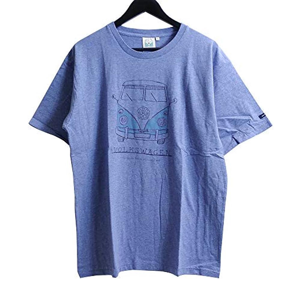 黙認する最大ブリーフケースフォルクスワーゲン Tシャツ Volkswagen オフィシャル グッズ ブルー 2304