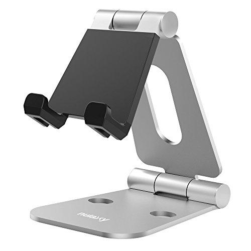 iPad/タブレット用スタンド 折り畳み式 270°自由調整可能 Nintendo Switchにも対応 SILVER