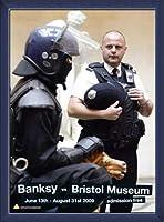 ポスター バンクシー banksy bristol museum poster 額装品 ウッドベーシックフレーム(ブルー)