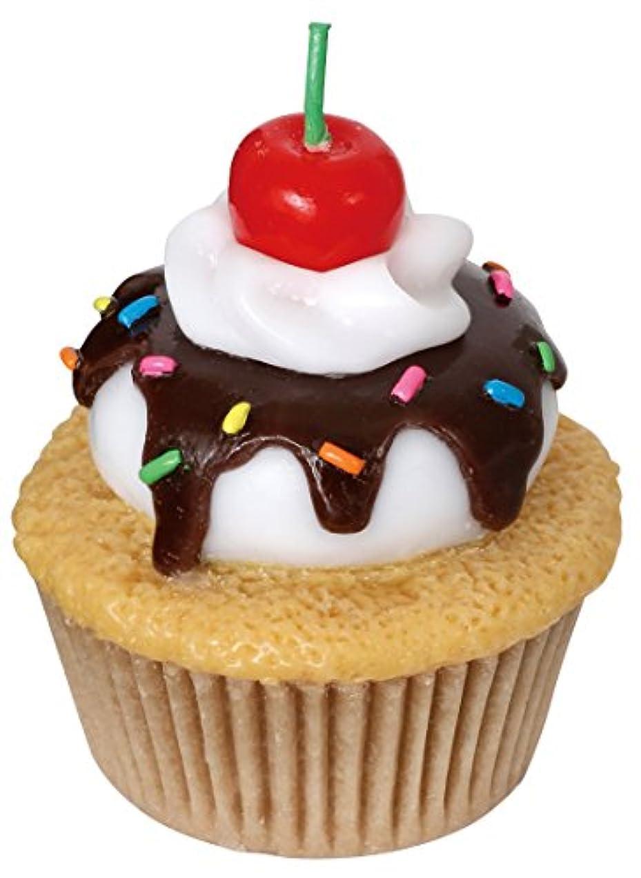 急勾配の期限切れ里親カメヤマキャンドルハウス アメリカンカップケーキキャンドル チェリーの香りつき