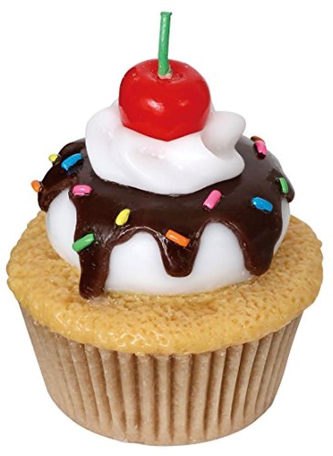 未来絶対に次カメヤマキャンドルハウス アメリカンカップケーキキャンドル チェリーの香りつき