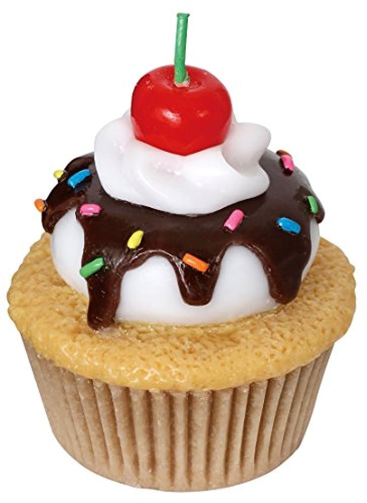 非公式パンダハングカメヤマキャンドルハウス アメリカンカップケーキキャンドル チェリーの香りつき