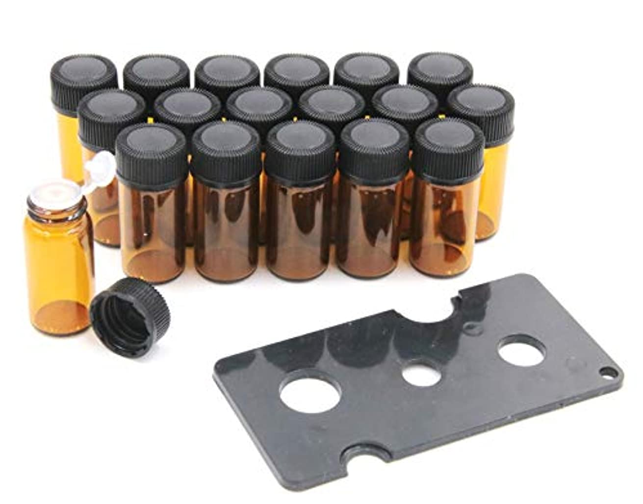 ジャニスクラシカル行商人XPdesign アロマ 小分け遮光瓶 アロマオイル 遮光瓶 保存 容器 詰め替え 香水 ボトル 耐熱ガラス (3ml 18本セット)