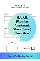 M.A.S.H. (Mansion. Apartment. Shack. House) Game Sheet