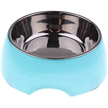 MagiDeal Pet Dogs Cats Feeder Food Water Bowl Feeding Food Dispenser Dish Feeder Fountain - Blue, M