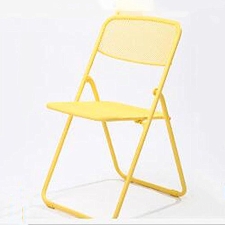 ソファー魅惑する叙情的なJTWJ 折りたたみ椅子灰色の黄色の緑のラウンジチェアステンレス鋼ポータブル釣りチェア (Color : Yellow)