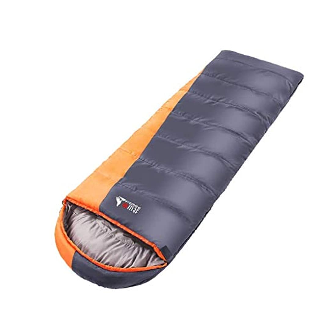征服する微妙キャッチキャンプの封筒の寝袋大人の軽量の防水暖かい3?4シーズン寝台旅行用ハイキング屋内の野外活動ブルーグレー(色:灰色)