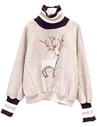 [ベィジャン] レディース トップス パーカー レイヤード フェイク 着痩せ 刺繍 もこもこ キラキラ かわいい ゆったり 通勤通学 秋冬 大きいサイズ