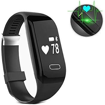 Aosnow Bluetooth4.0 スマートブレスレット 心拍計 歩数計 睡眠計 着信通知座りがち注意 健康管理 IP67防水防塵 Android&IOS対応 (ブラック)