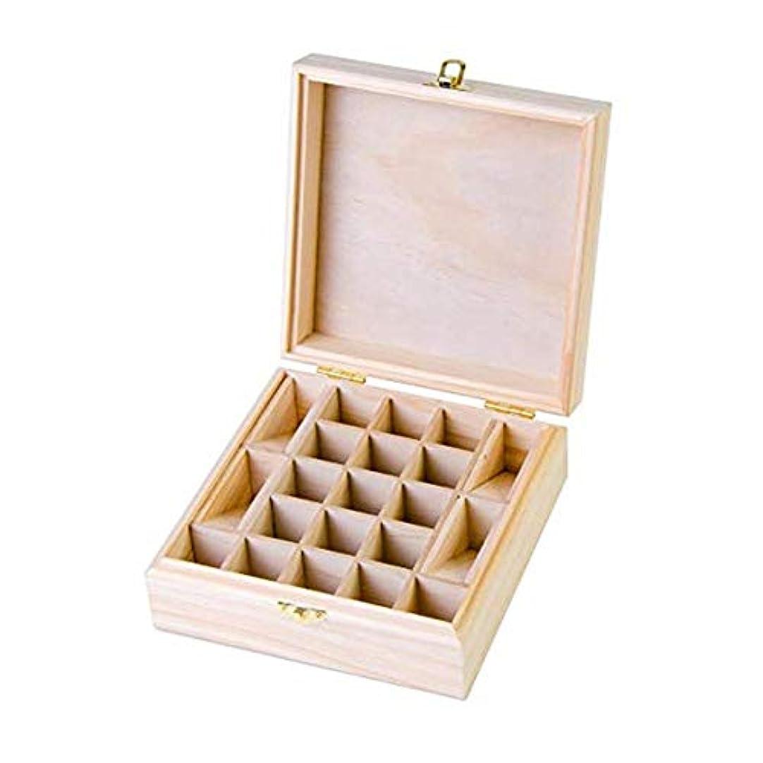 赤字避難する署名21グリッド木製エッセンシャルオイル収納ボックス 精油収納ケース ナチュラルパインウッド製 手作り 工芸品 5-15ml用 junexi