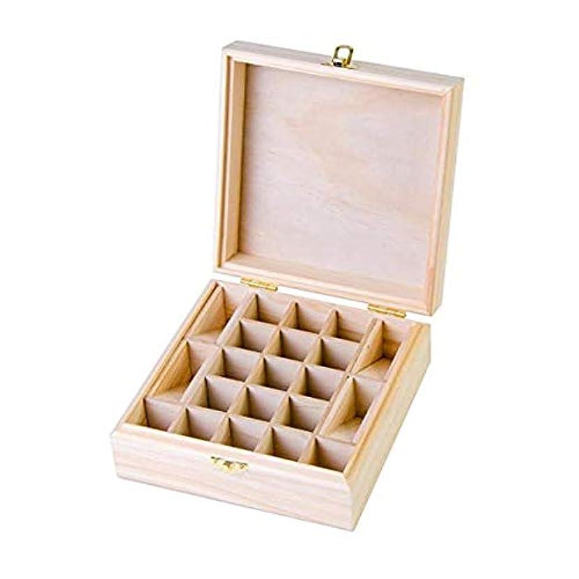 ボトルネック月曜日珍味21グリッド木製エッセンシャルオイル収納ボックス 精油収納ケース ナチュラルパインウッド製 手作り 工芸品 5-15ml用 junexi