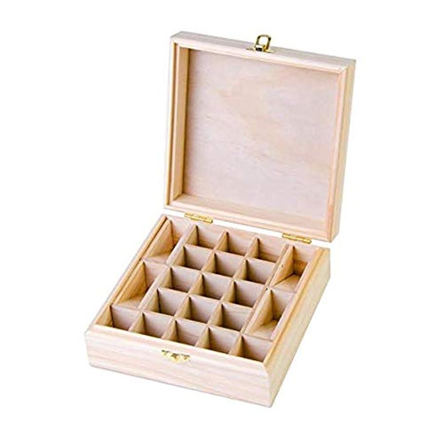 カラス前投薬ブラウズ21グリッド木製エッセンシャルオイル収納ボックス 精油収納ケース ナチュラルパインウッド製 手作り 工芸品 5-15ml用 junexi