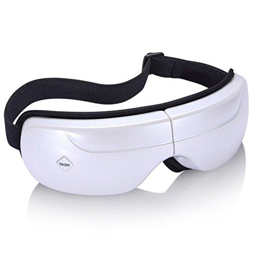 目元マッサージャー REAK 目もとエステ 音楽機能 アイエステ エアマスク アイマスク アイマッサージャー 目元美顔器 電動美顔器 5モード 180度二つ折り USB充電式 (白)