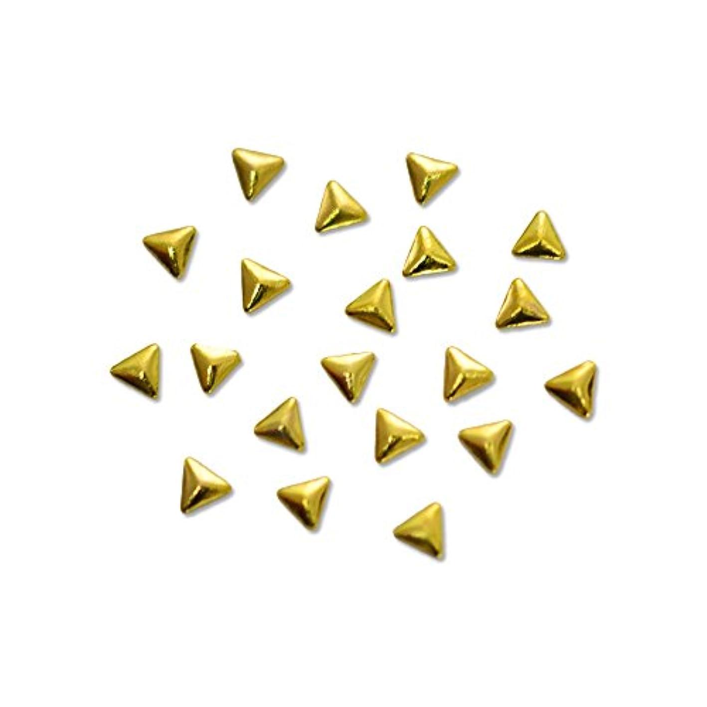 ネット鈍いめったにメタルスタッズ トライアングル 2mm ゴールド 20pic/小さい三角形のメタルパーツ