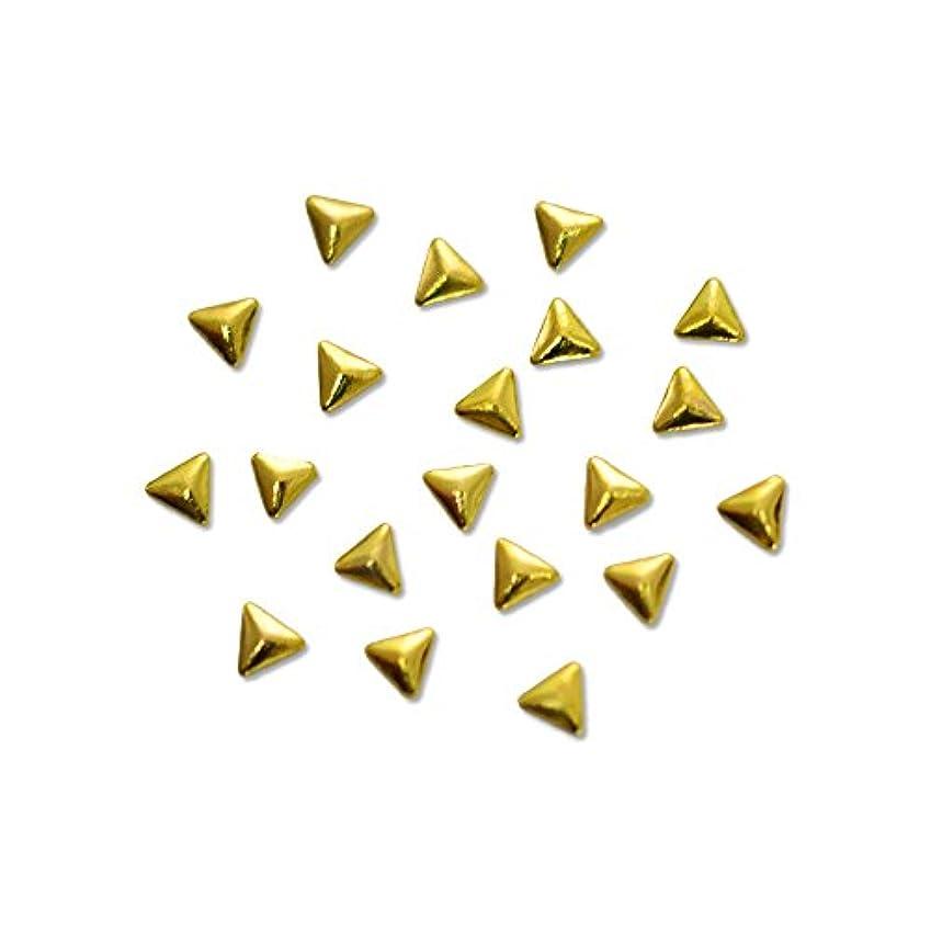 パーツアナロジージョリーメタルスタッズ トライアングル 2mm ゴールド 20pic/小さい三角形のメタルパーツ