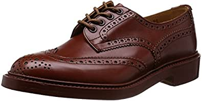 [トリッカーズ] Tricker's Tricker's Full Brogue Derby Shoe / BURTON - Calf -  (Double Leather Sole) M5633 MARRON Antique(MARRON Antique/7)