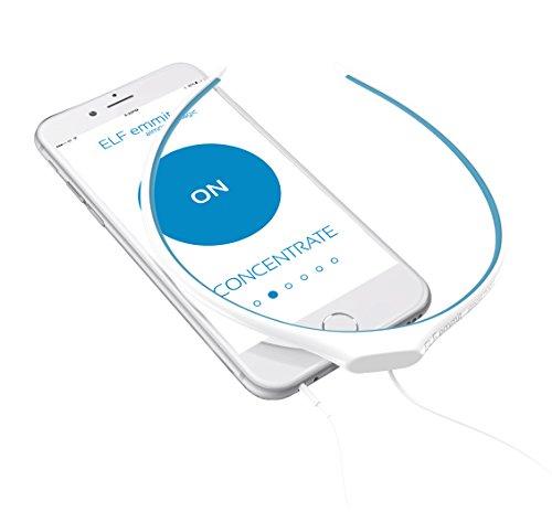 ELF エミット - 心と体をアシストするウェアラブルデバイス【ストレス軽減、集中力アップ、快眠、瞑想、学習効率アップ】 (ブルー) [並行輸入品]