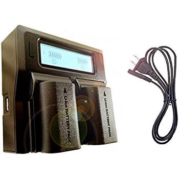 AD-DA™ [ CANON LP-E6・LP-E6n対応 ] LCD付き 高性能急速充電器/デュアル・バッテリー・ステーション/日本語DLマニュアル