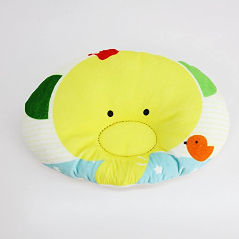 幼児ベビー枕ヘッドレスト、ソフトメモリフォームSpecialtyデザインの赤ちゃん、防ぐフラットヘッドSyndrome、オレンジレッド
