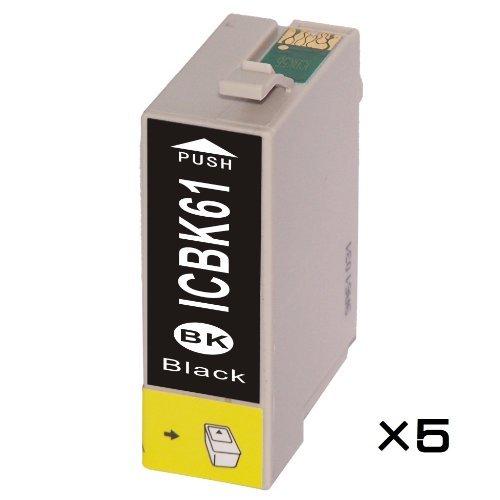 【ICBK61 EPSON互換インク】ブラック×5個セット【ICチップ付】