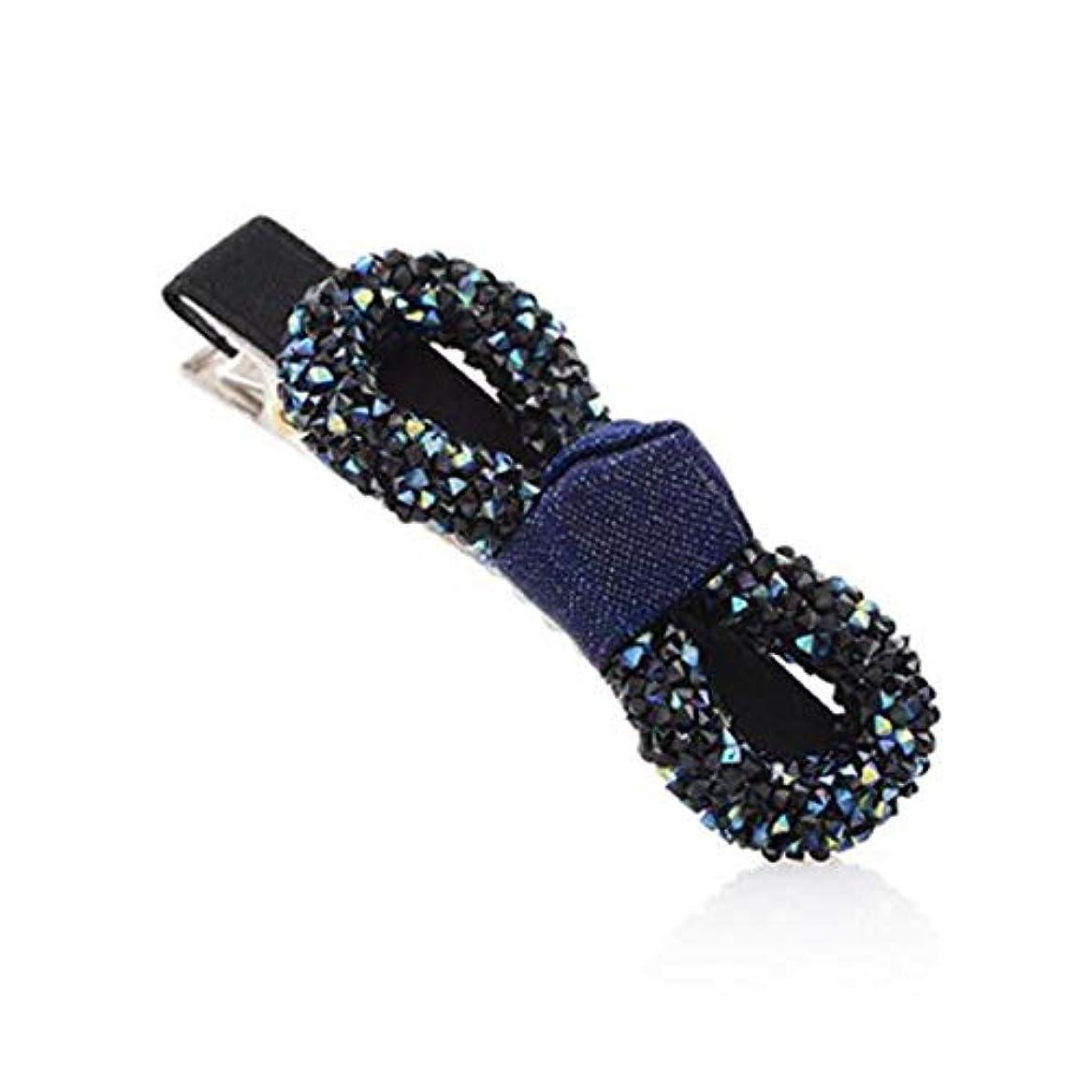 チョップメダル幽霊ヘアクリップ、ヘアピン、ヘアクリップ、ヘアグリップ、弓ヘアピンヘアピンヘアクリップヘアピン前髪クリップクランプクリップクリップトップクリップショートヘアヘッドドレス青、赤 (Color : Blue, Size : 6.5*3.2cm)