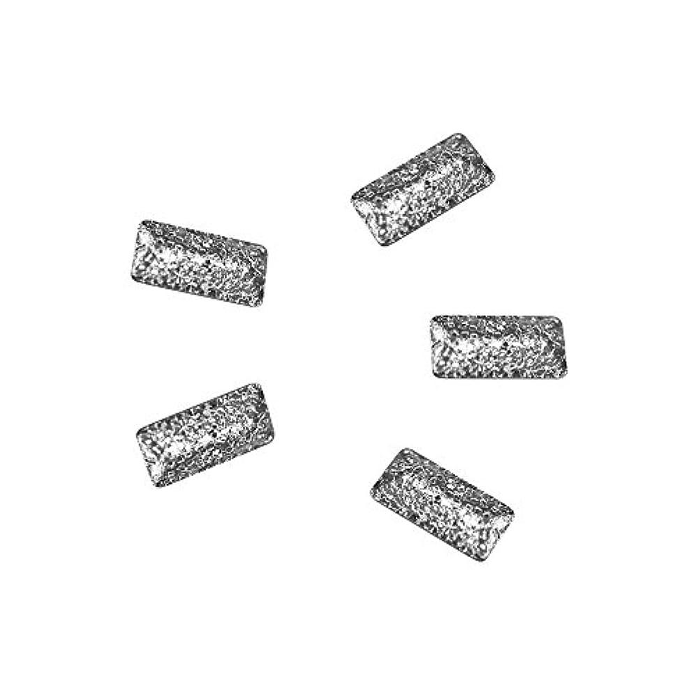 シルクチケット割り込みBonnail ラフスタッズシルバー レクタングル3×1.2mm