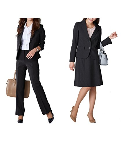 タイトルをニッセン) nissen スーツ 上下 3点セット ( ジャケット + パンツ + スカート ) オフィス レディース