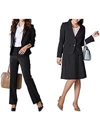 (ニッセン) nissen スーツ 上下 3点セット ( ジャケット + パンツ + スカート ) オフィス レディース 7号 9号 11号 13号 15号 17号