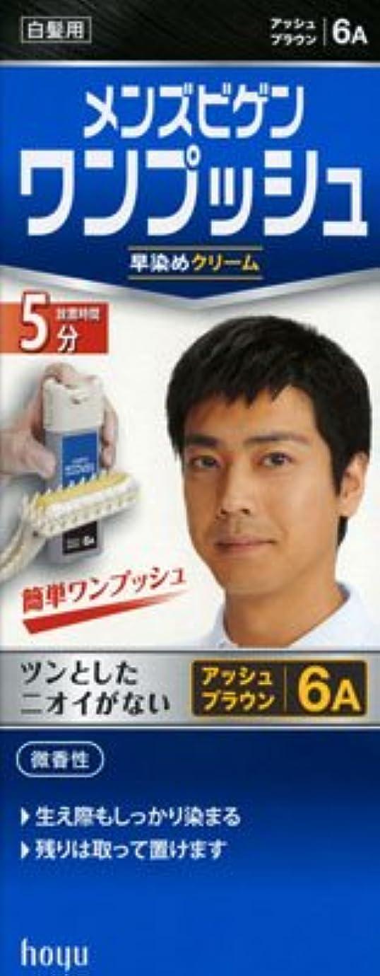 ソケットまともな外科医メンズビゲン ワンプッシュ 6A アッシュブラウン × 5個セット