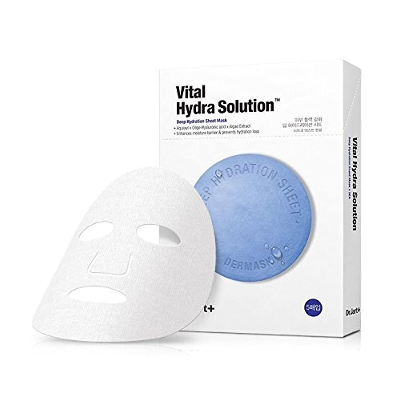 カーテンテーブルを設定するオーバーフロードクタージャルト バイタルヒドラソリューション?ディップハイドレイションマスクシート 25g*5枚セット / Dr.Jart+ Vital Hydra Solution Deep Hydration Mask Sheet...