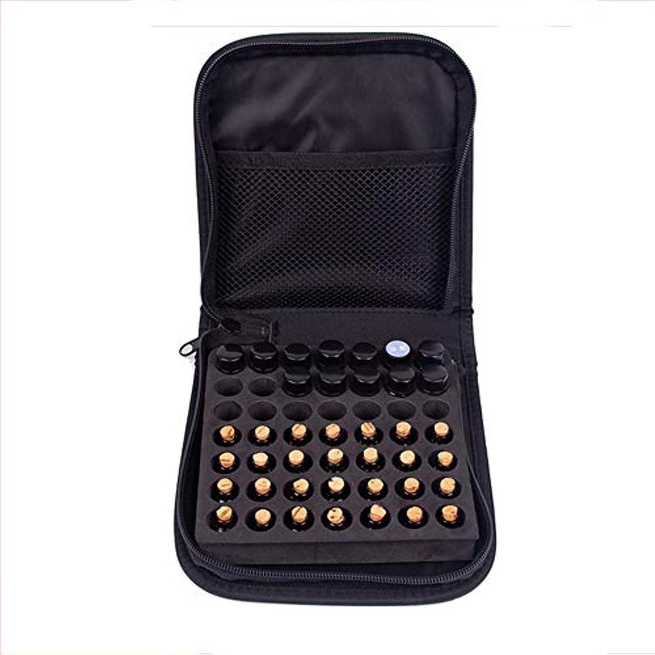 望む答え禁止エッセンシャルオイル収納ボックス 49本のボトル用エッセンシャルオイルの収納ケース旅行エッセンシャルオイルキャリングケースは、2mlのバイアルを保持します (色 : ブラック, サイズ : 16.5X16.4X4CM)
