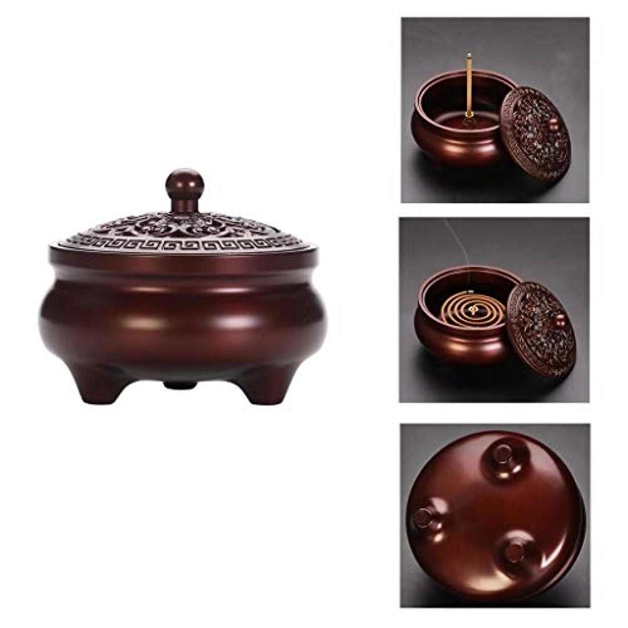 スケッチ思慮のないボイラーホームアロマバーナー 純銅製メカニズム香炉シンプルでエレガントな香炉内三脚アロマセラピー炉 アロマバーナー (Color : Purple Lotus)