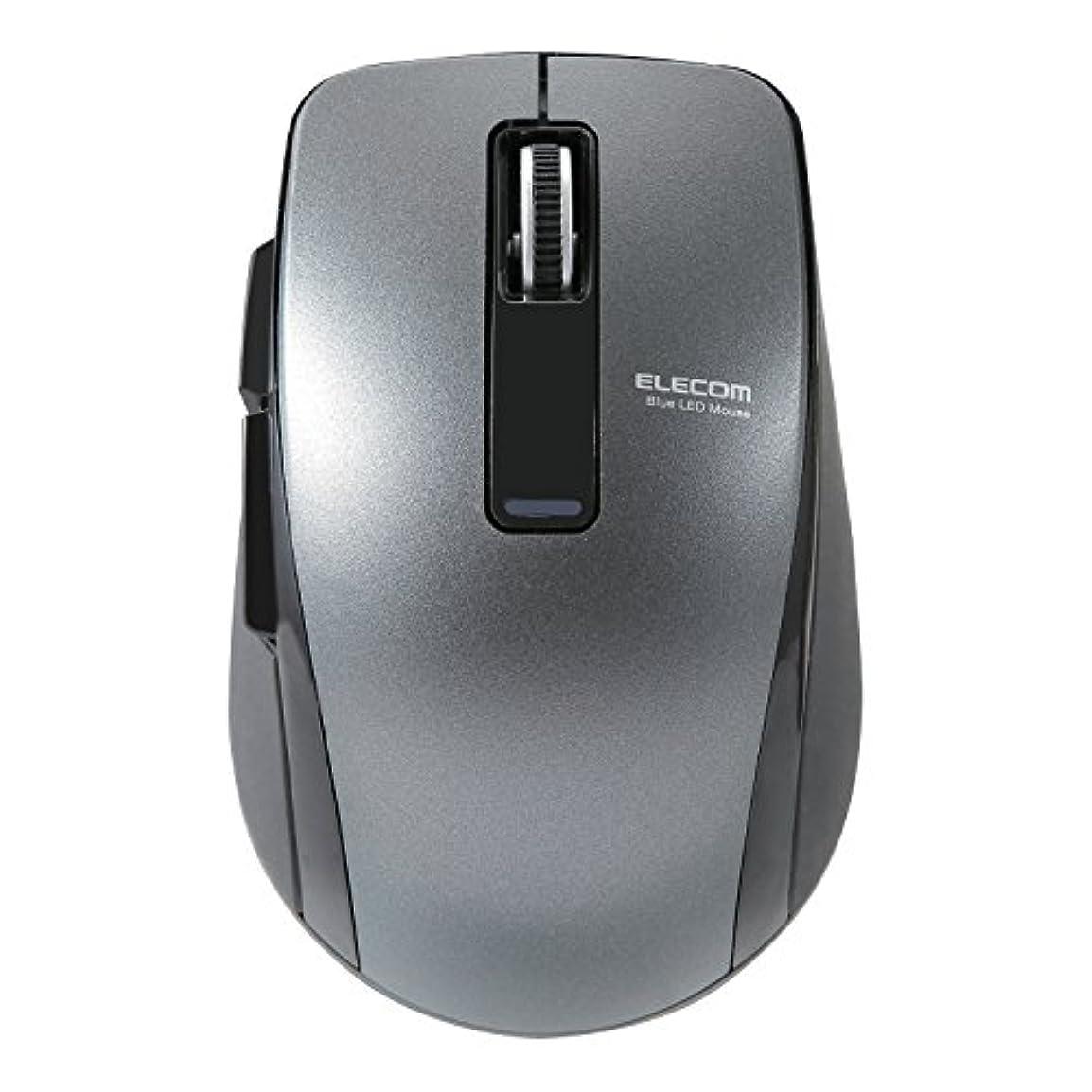 規範友だちインクエレコム マウス Bluetooth (iOS対応) Mサイズ 5ボタン (戻る?進むボタン搭載) BlueLED 省電力(電池寿命:約1.3年) ブラック M-BT20BBBK