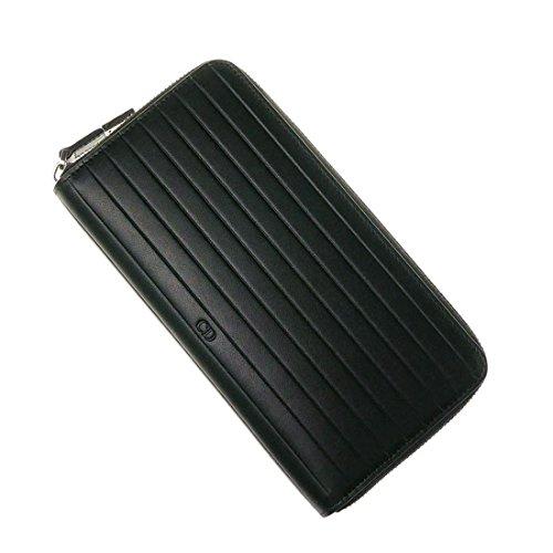 (ディオールオム)DIOR HOMME メンズラウンドファスナー長財布(小銭入れ付き) 2BKBC011VEA ブラック [並行輸入品]