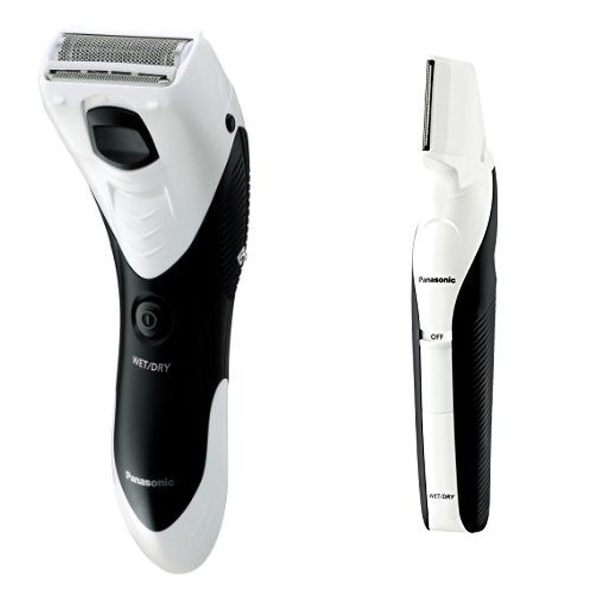 める荒涼とした明確なパナソニック メンズシェーバー ボディ用 お風呂剃り可 白 ER-GK40-W + ボディトリマーセット