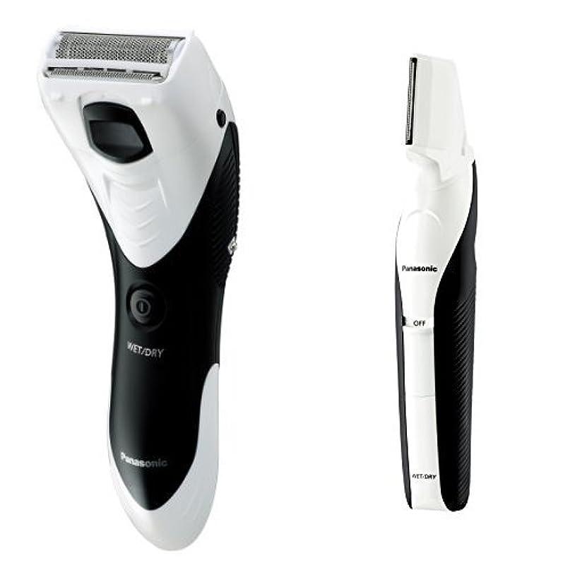 合併症超高層ビル突然パナソニック メンズシェーバー ボディ用 お風呂剃り可 白 ER-GK40-W + ボディトリマーセット